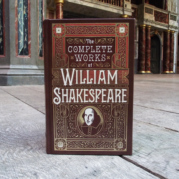 Leather-bound hardback version of William Shakespeare's Complete Works