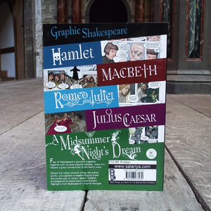 Graphic shakespeare, graphic novel. Re-telling of Shakespeare's best known plays