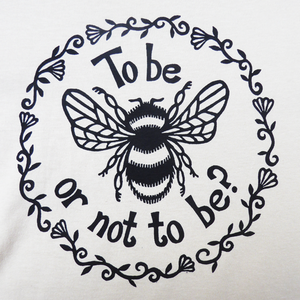 Hamlet Bee lino cut design for Shakespeare's Globe