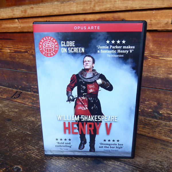 DVD of Shakespeare's Globe 2012 production of Henry V. Performed and recorded in Shakespeare's Globe.