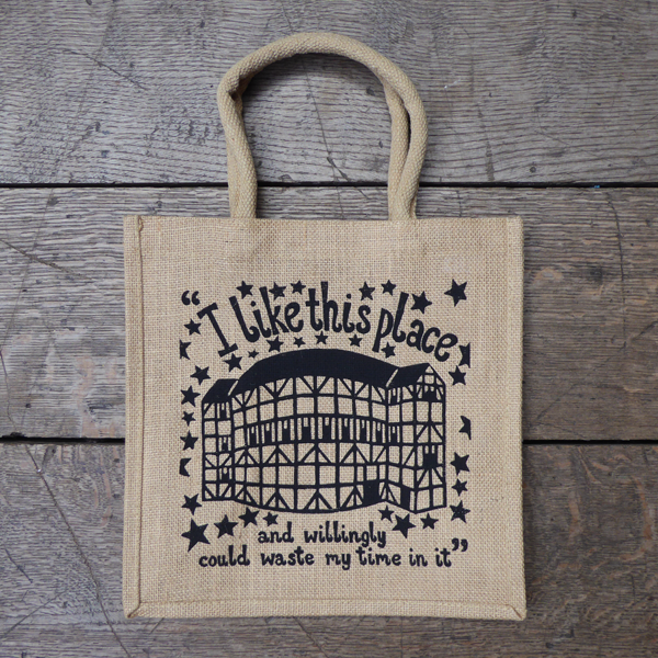 Shakespeare's Globe Theatre Jute Bag
