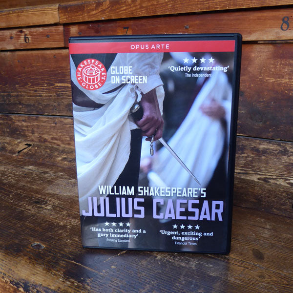 DVD of Shakespeare's Globe 2014 production of Julius Caesar. Performed and recorded in Shakespeare's Globe.