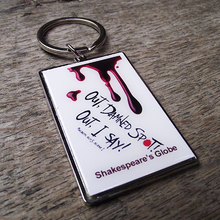 Macbeth 'Damned Spot' Metal Keyring