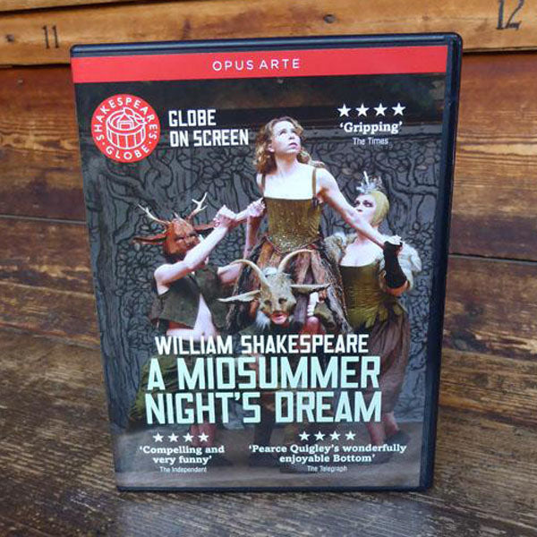 DVD of Shakespeare's Globe 2013 production of A Midsummer night's Dream