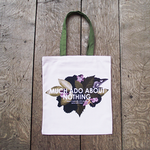 Beautiful cotton bag with a design inspired by Tudor gardens and a quote from Shakespeare's Much About About Nothing