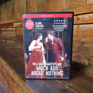DVD of Shakespeare's Globe 2011 production of Much Ado About Nothing. Performed and recorded in Shakespeare's Globe.