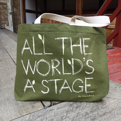 Green 'All the World's a Stage' Tote