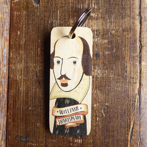Wooden Keyring: Shakespeare