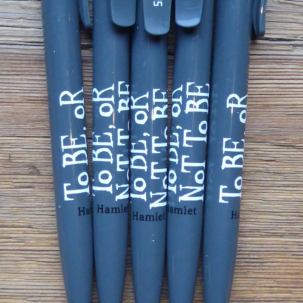 Hamlet 'To Be' Quote Pen