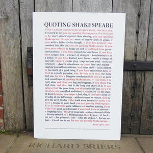 Quoting Shakespeare - Print to Order