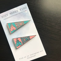 Home Banner Pins // Castle Banner Pins