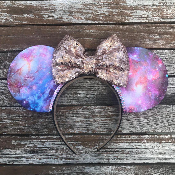 Rose Gold Galaxy Mouse Ears