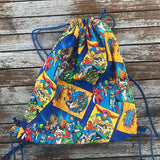 Justice League Superhero Drawstring Bag