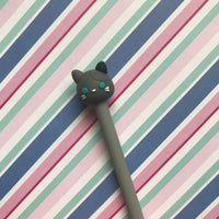 Gray Cat Gel Pen