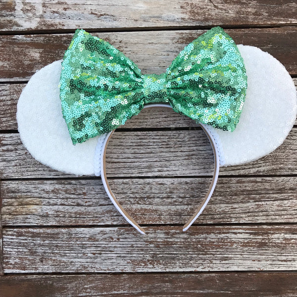 White All Over Sequin Mouse Ears (MINT)
