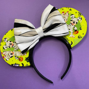 Donald, Mickey, and Minnie Mummy Mouse Ears
