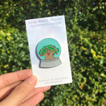 Animal Kingdom Snow Globe Pin