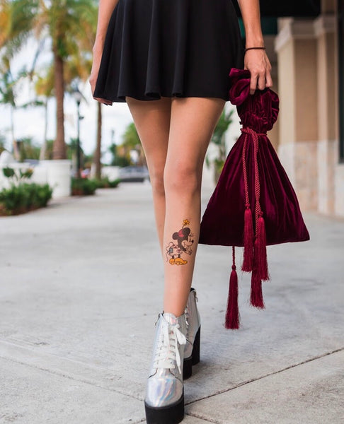 Velvet Cinch Tassel Purse