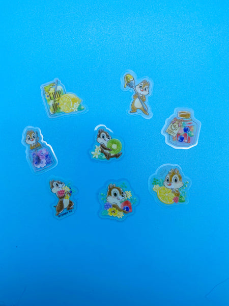 Chip and Dale Yum Time Flake Stickers