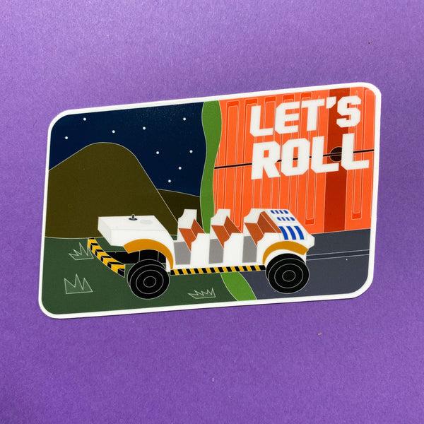 Let's Roll || Dinosaur Time Rover Sticker