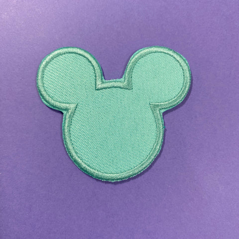 Aqua Mouse Head Patch