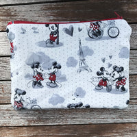 Mickey and Minnie Paris Small Makeup Bag