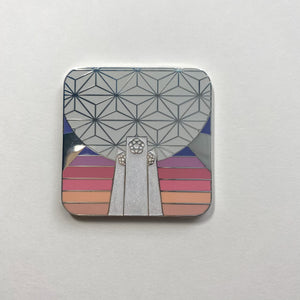 Spaceship Earth + Pylons Retro Pin