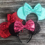 Light Blue All Over Sequin Mouse Ears