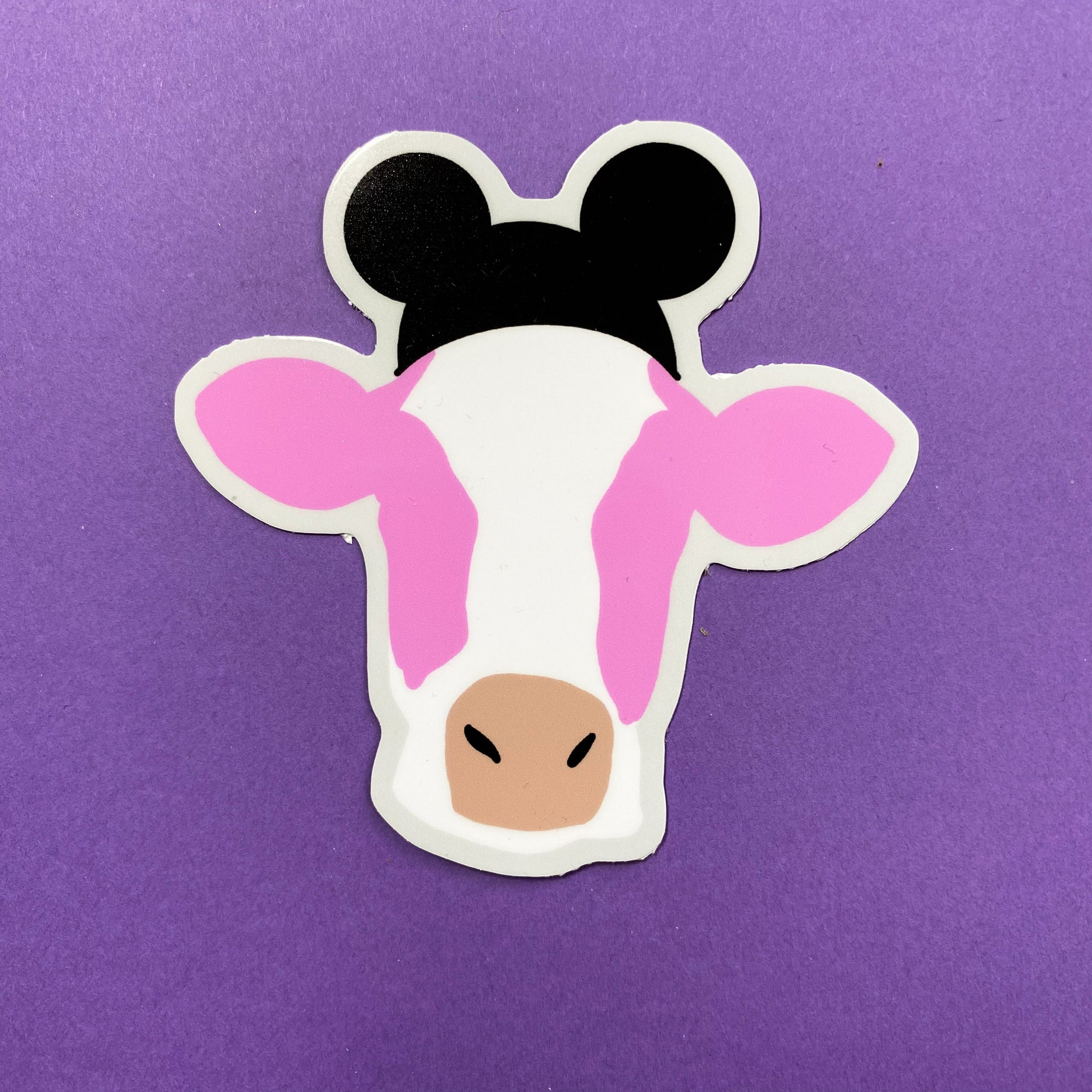 Strawberry Cow with Ears Sticker