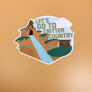 Let's go to Critter Country // Splash Mountain Sticker