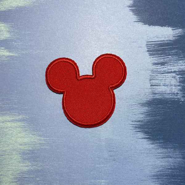 Red Mouse Head Patch
