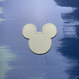 White Mouse Head Patch