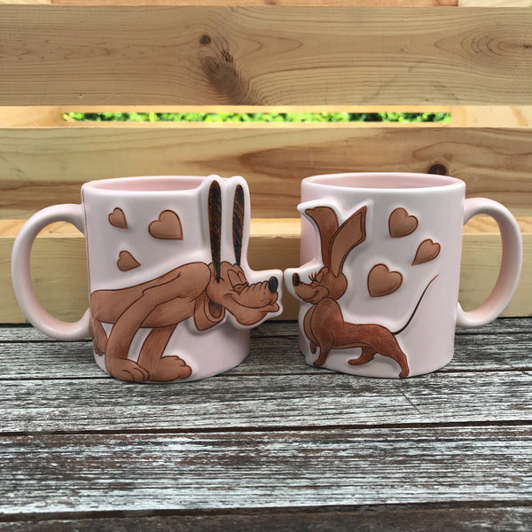 PREORDER Pluto and Dinah the Dachshund Couples Mugs