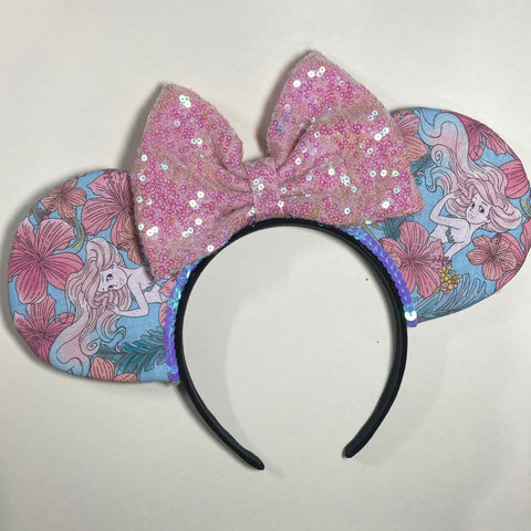 The Little Mermaid || Ariel || Princess Floral || Flower and Garden Mouse Ears