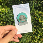 Spaceship Earth Snow Globe Pin