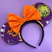 Purple Nightmare Before Christmas Mouse Ears