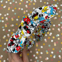 Mickey and Friends All Over Print Bow Knot Headband