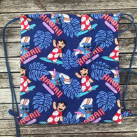 Lilo and Stitch Surf Club Drawstring Bag