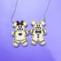 Gingerbread Couple Holiday Necklace