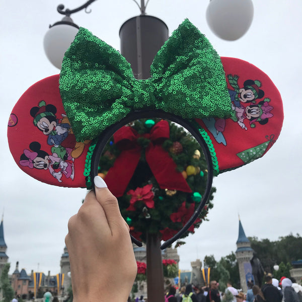 Mickey and Minnie Holiday Ears