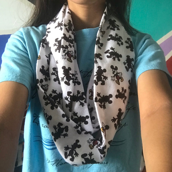 Mickey Silhouette Infinity Scarf