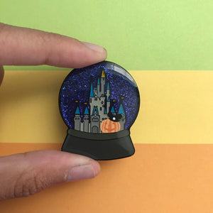 Halloween Magic Kingdom Snow Globe Pin