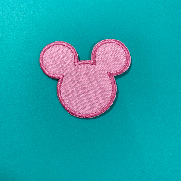 Pink Mouse Head Patch