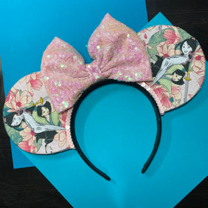 Mulan || Princess Floral || Flower and Garden Mouse Ears