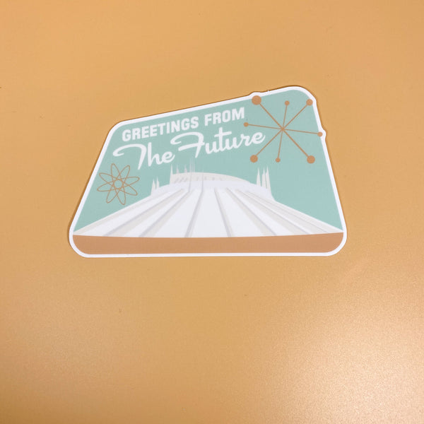Greetings from the Future // Space Mountain Sticker