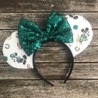 Mickey and Minnie St. Patrick's Ears