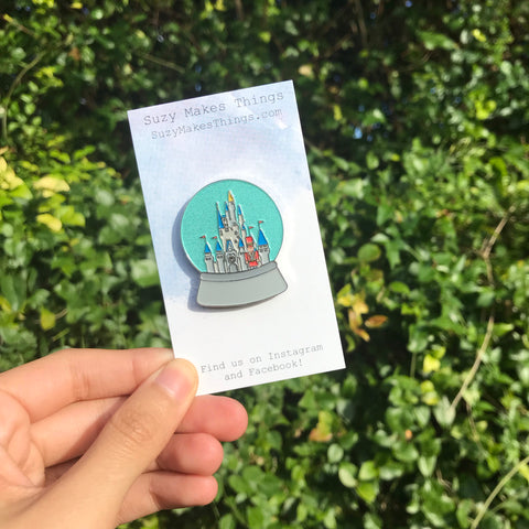 Magic Kingdom Snow Globe Pin