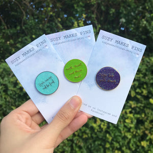 Glitter Quote Pin Set
