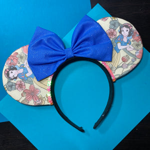Snow White || Princess Floral || Flower and Garden Mouse Ears