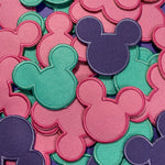 Pastel Mouse Head Patch Set of 3